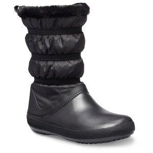NEW CROCS crocband insulated winter boot Black 10